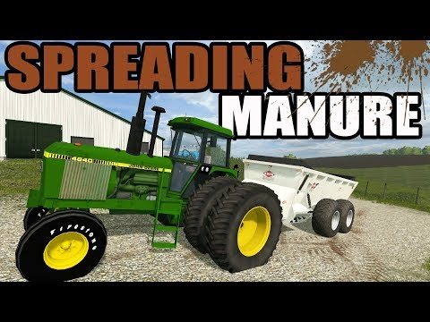 FARMING SIMULATOR 2017 | NEW KUHN MANURE SPREADER HAULING CRAP OUT TO THE FIELDS | EP #37 thumbnail