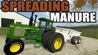 FARMING SIMULATOR 2017 | NEW KUHN MANURE SPREADER HAULING CRAP OUT TO THE FIELDS | EP #37