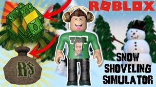 ROBLOX Como farmar muito dinheiro Snow Shoveling Simulator