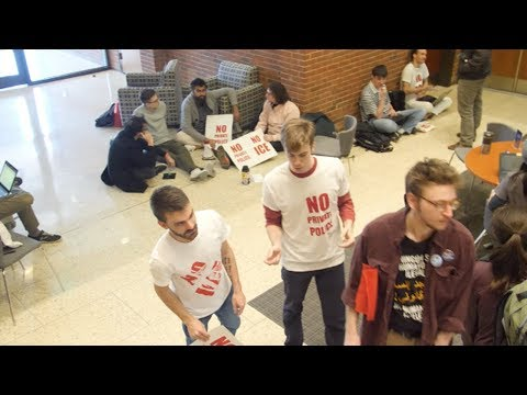 Hopkins Students Sit-In to Oppose University's Private Police and ICE Contract