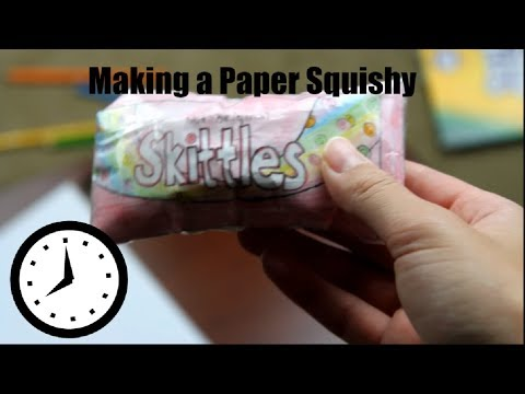 Time Lapse of me Making a Paper Squishy | Skittles Squishy