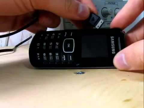 Краш-тест Samsung E1080i короткое замыкание зарядки 929