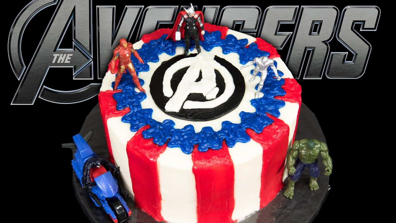 Avengers Cake from Cookies Cupcakes and Cardio YouTube