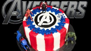 Avengers Cake From Cookies Cupcakes And Cardio
