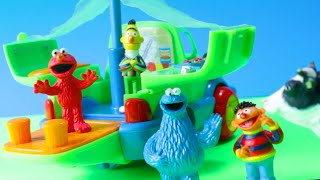 Sesame Street Goes Camping - Cookie Monster, Bert, Ernie, and Elmo Go On a Camping Trip