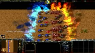 Warcraft 3 - 100 vs 100 - Riflemen vs Troll Headhunters
