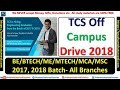 TCS OFF CAMPUS DRIVE 2018 FOR FRESHER || 2017 & 2018 BATCH ||