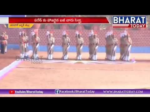 4Th Battalion Training Parade in Mamnoor   Warangal District   Bharat Today