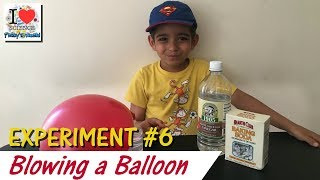 Blowing the Balloon with Vinegar + Baking Soda | Experiment 6 | Prakys World