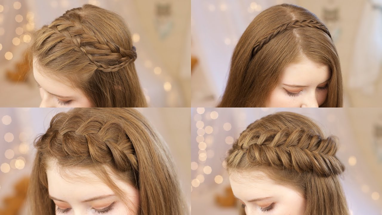 5 Headband Braids | Back to School Hairstyles - YouTube
