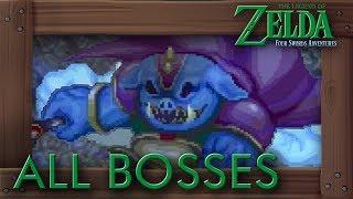 Zelda Four Swords Adventures - All Bosses (No Damage)