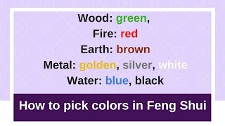 This video shows how to pick the right lucky color for your furnitu...