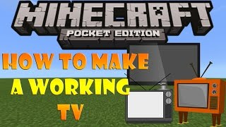 How to make a Working TV in Minecraft PE 0.15.0 (NO MODS)