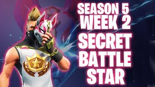 FORTNITE WEEK 2 SECRET BATTLE STAR EMPLACEMENT! Battle Pass Défis Tous terminés