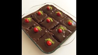 Pişmeyen Browni  Pasta-En Kolay Çikolatalı Pasta Tarifi-Bera Tatlidunyasi
