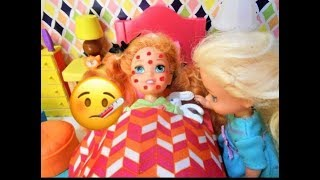 Toddler is SICK! LiL Anna gets CHICKEN POX! Doctor Visit! Fun With Toys