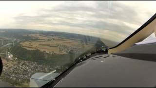 P180 Avanti II, a short field take off and landing at EDRK, Koblenz, Germany.mp4
