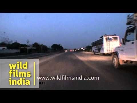 Bulky trucks on Jaipur-Gurgaon National Highway 8