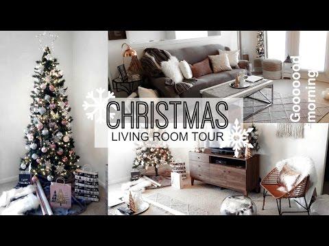 LIVING ROOM CHRISTMAS DECOR + SHOP WITH ME