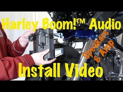 Install Harley Davidson Boom Audio Stage 1 or 2 Front Fairing Amplifier & Speakers | Tutorial