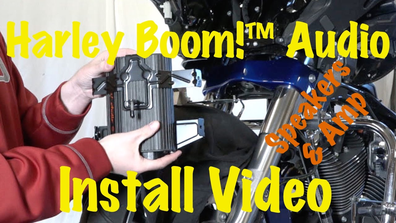 install harley davidson boom audio stage 1 or 2 front fairing amplifier speakers tutorial youtube [ 1280 x 720 Pixel ]