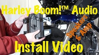 install harley davidson boom audio stage 1 or 2 front fairing amplifier speakers tutorial