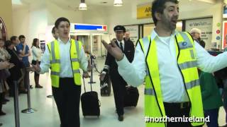 Flash Mob Choir: A special Northern Ireland welcome - this is how we do it!