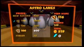 crash tag team racing bowling mini game