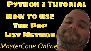 How To Use The Pop List Method In Python 3 Video