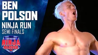 Ninja run: Ben Polson (Semi final) | Australian Ninja Warrior 2018