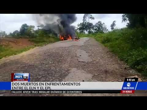 Dos muertos dejan enfrentamientos entre Eln y Epl en el Catatumbo