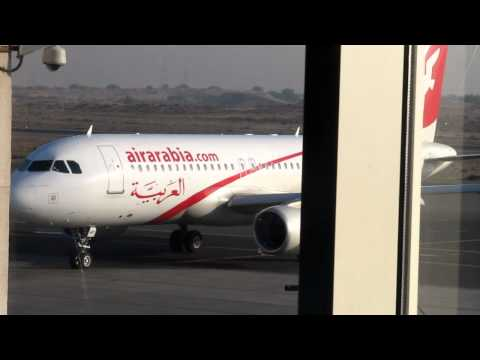 air arabia A320 parked in sharjah international airport