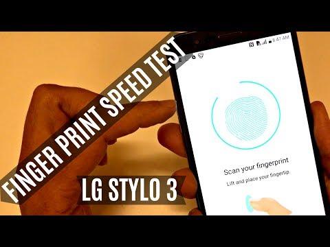 LG Stylo 3 Plus Fingerprint Scanner SPEED TEST