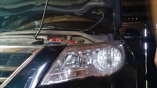 Замена лампы дальнего света на VW TIGUAN