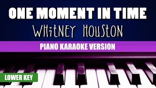 Enjoy singing along with this karaoke version of one moment in time (piano version) as made famous by whitney houston. (lower key version)one ...