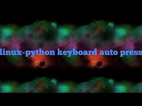 Auto key press with python keyboard module