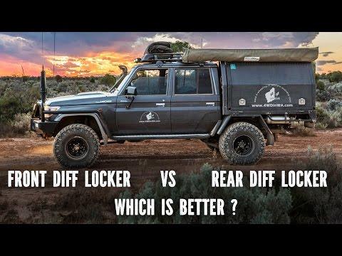 Front Diff Locker vs Rear Diff Locker