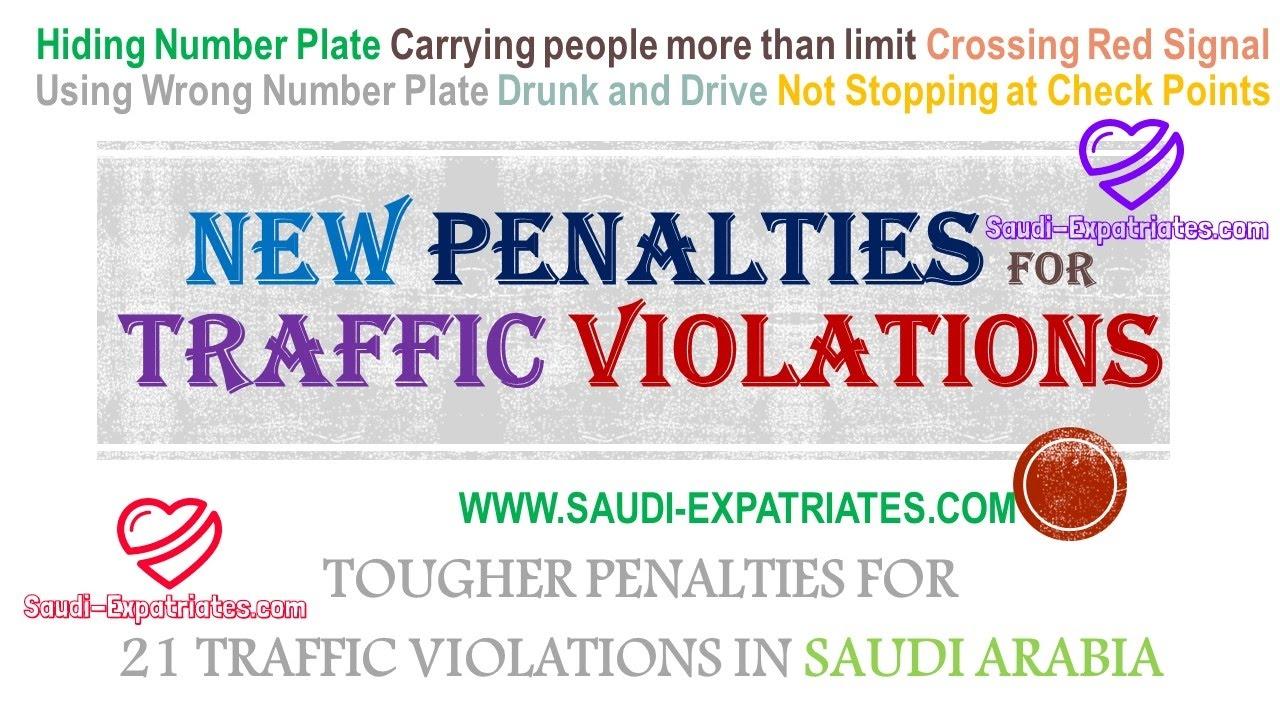 Penalties for speeding