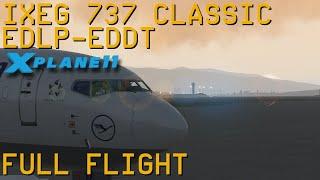 Full Flight   IXEG 737 Classic   Paderborn to Berlin Tegel   X-Plane 11