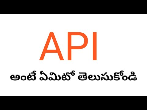 (Telugu) What Is An API(Application Programming Interface)?
