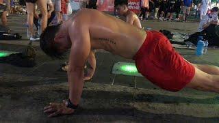 3500 hít đất không đứng dậy!  - Street workout Làng Hoa