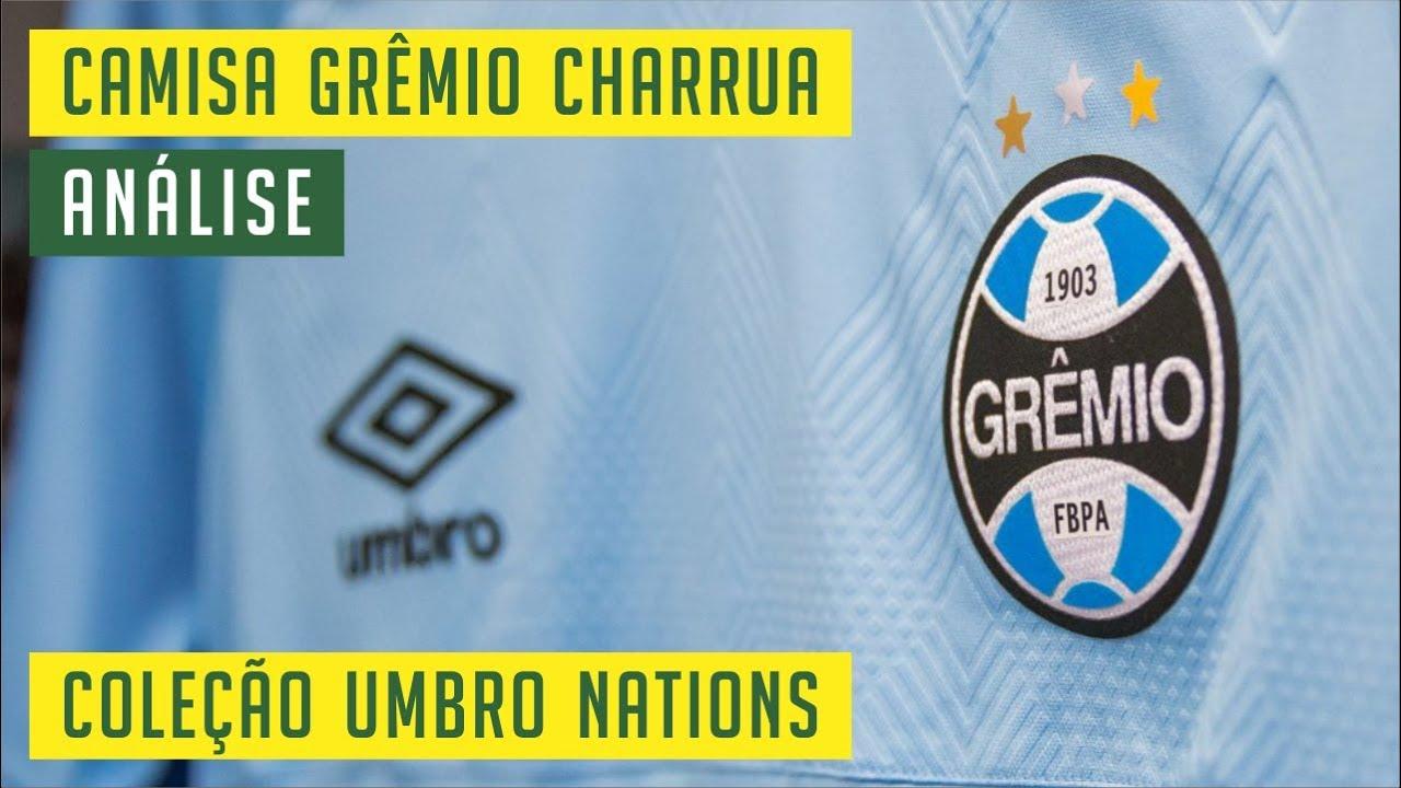 cd34200849372 CAMISA GRÊMIO CHARRUA - COLEÇÃO UMBRO NATIONS 2018 - ANÁLISE ...