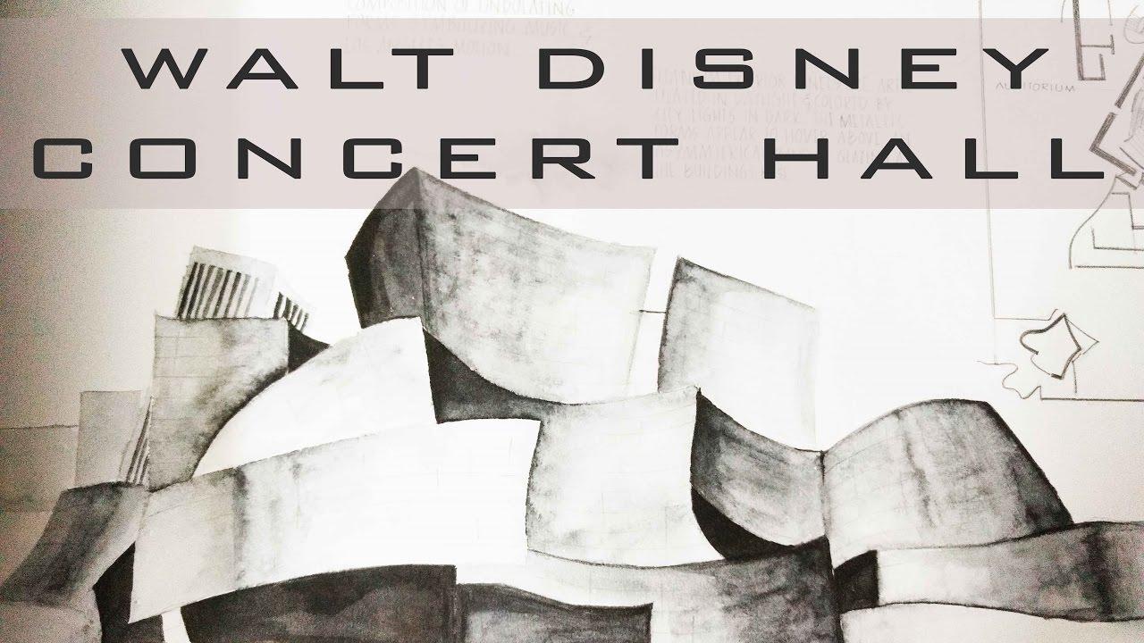 Walt Disney Concert Hall Watercolor Architectural Presentation