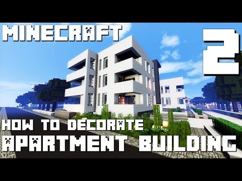 Minecraft: How to Decorate Modern Apartment Building - Part 2