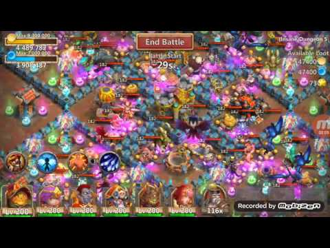 Castle Clash Insane Dungeon 5-7 F2P (no SK)