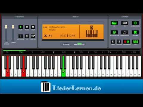 Killerpilze - Ich brauche nichts - Klavier lernen - Musiknoten - Akkorde