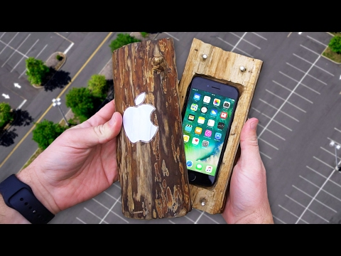 Thumbnail: Can a Hand-Carved Log Protect iPhone 7 from 100 FT Drop Test? - GizmoSlip