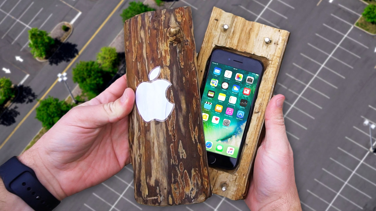 Can A Hand Carved Log Protect Iphone 7 From 100 Ft Drop