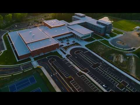 Aerial tour of Green Level High School in Cary, N.C.