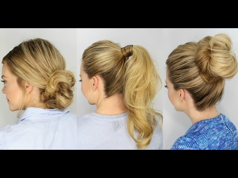 3 Easy 5 Minute Hairstyles thumbnail